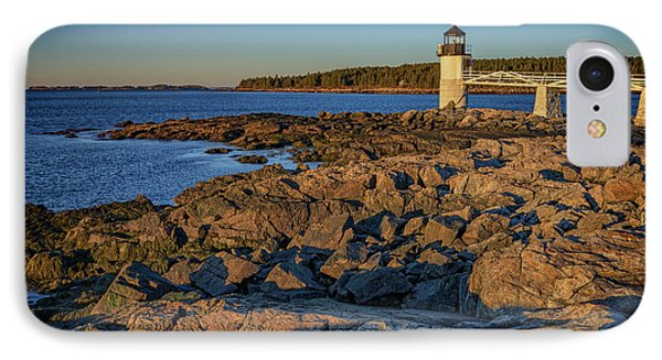 Lighthouse At Marshall Point IPhone Case by Rick Berk