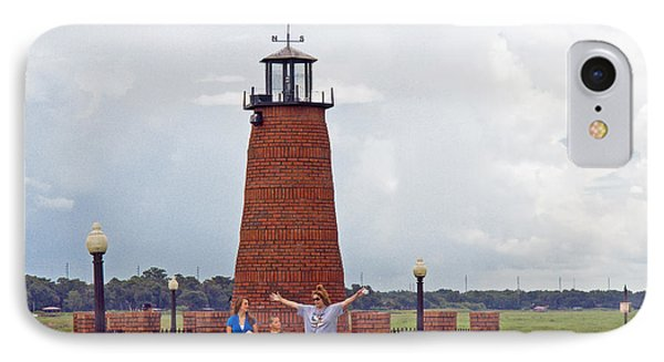 Lighthouse At The Port Of Kissimmee On Lake Tohopekaliga In Central Florida Phone Case by Allan  Hughes