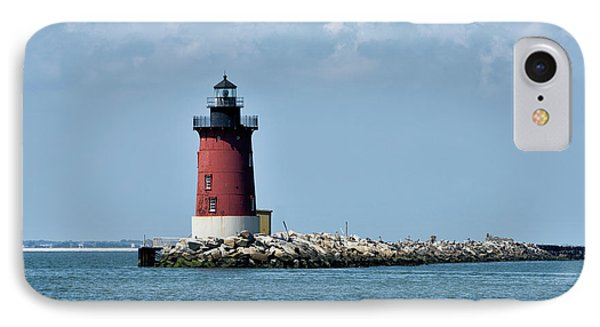 Delaware Breakwater East End Lighthouse - Lewes Delaware IPhone Case by Brendan Reals
