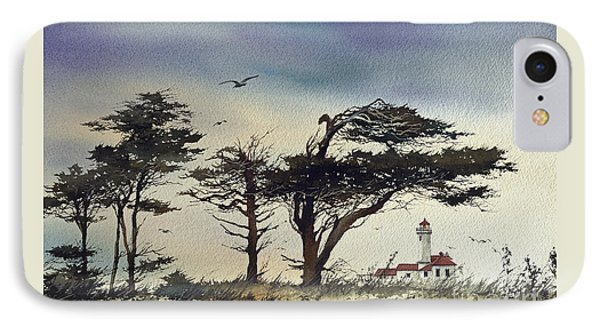 IPhone Case featuring the painting Lighthouse Coast by James Williamson