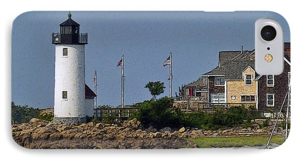 Lighthouse In The Ipswich Bay IPhone Case