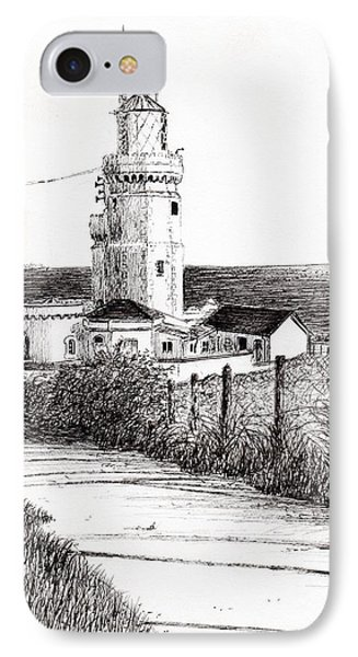 Lighthouse Isle Of Wight IPhone Case by Vincent Alexander Booth