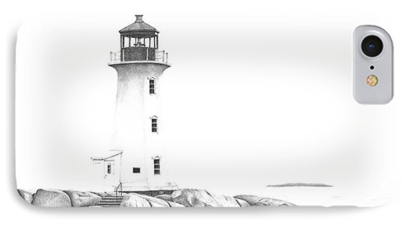 Lighthouse Of Peggy's Cove IPhone Case by Patricia Hiltz