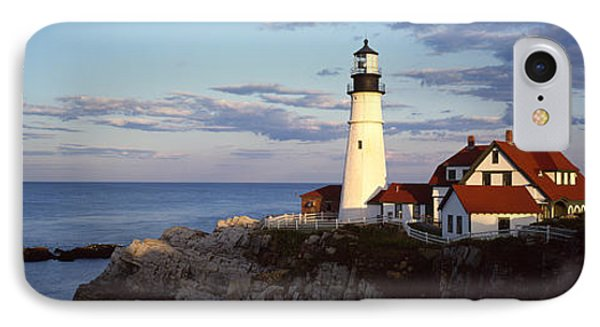 Lighthouse On A Cliff, Portland Head IPhone Case by Panoramic Images