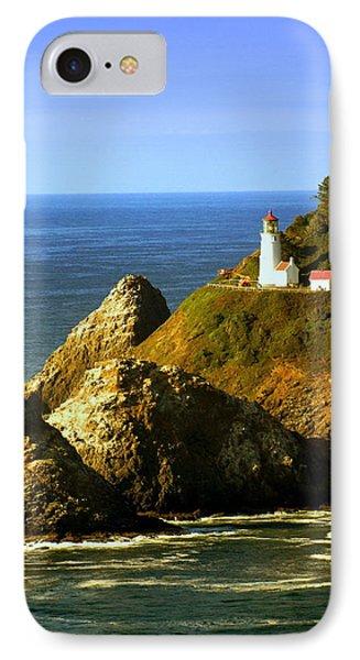 Lighthouse On The Oregon Coast Phone Case by Marty Koch