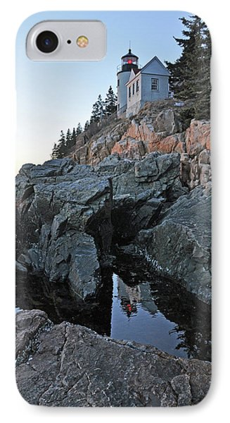 IPhone Case featuring the photograph Lighthouse Reflection by Glenn Gordon