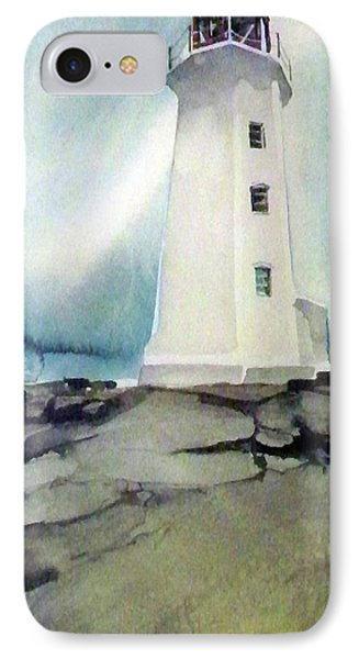 Lighthouse Rock IPhone Case by Ed Heaton