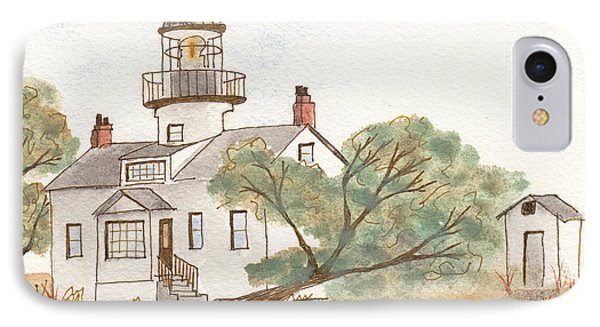 Lighthouse Sketch Phone Case by Ken Powers