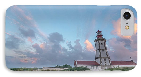 Lighthouse Sunrise At Cape Espichel IPhone Case