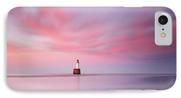 IPhone Case featuring the photograph Lighthouse Sunset by Grant Glendinning