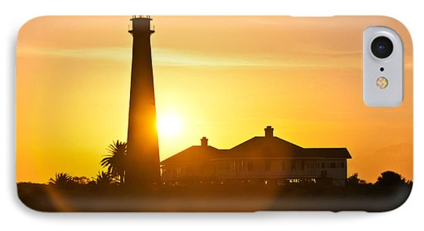 Lighthouse Sunset IPhone Case by John Collins