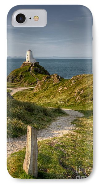Lighthouse Twr Mawr IPhone Case by Adrian Evans