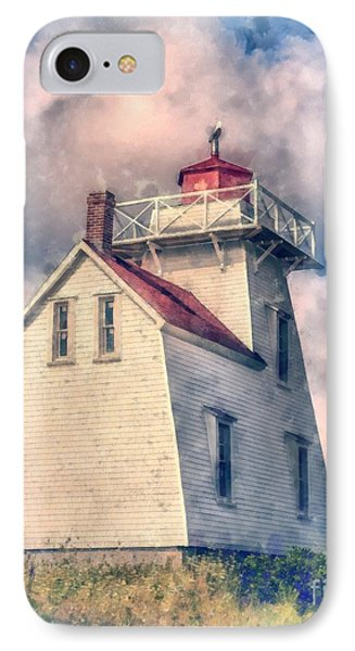 Lighthouse Watercolor IPhone Case by Edward Fielding