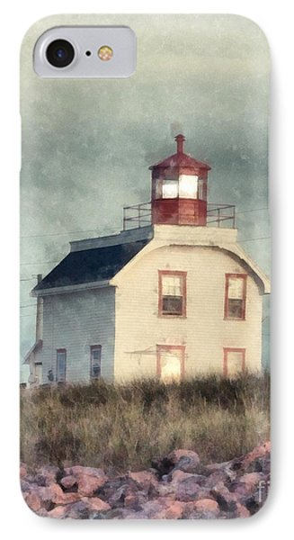 Lighthouse Watercolor Prince Edward Island IPhone Case