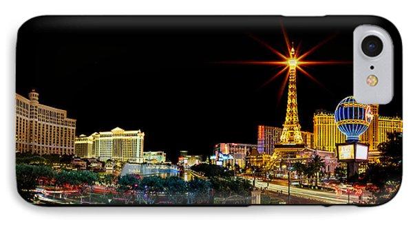 Lighting Up Vegas IPhone 7 Case by Az Jackson