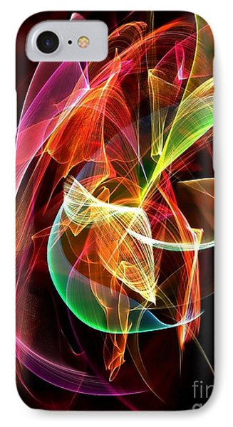 IPhone Case featuring the digital art Lightning By Nico Bielow by Nico Bielow