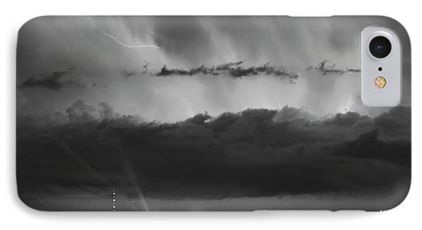 Lightning Cloud Burst Black And White Phone Case by James BO  Insogna