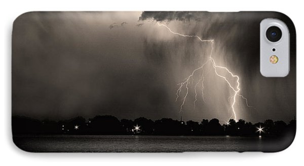 Lightning Energy Poster Print Phone Case by James BO  Insogna