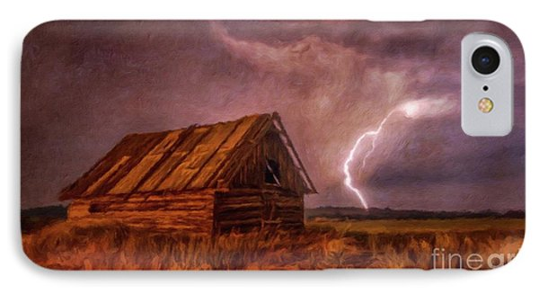 Lightning Landscape By Sarah Kirk IPhone Case
