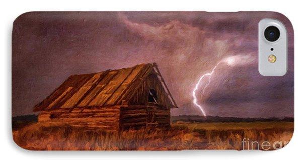 Lightning Landscape By Sarah Kirk IPhone Case