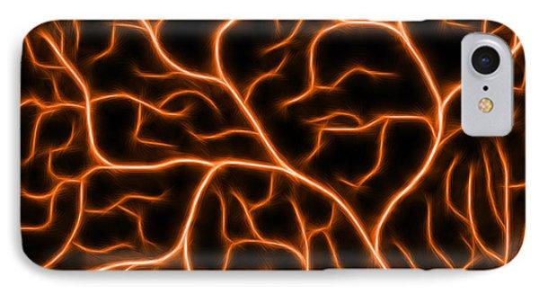 IPhone Case featuring the digital art Lightning - Orange by Shane Bechler