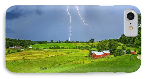 Lightning Storm Over Jenne Farm IPhone Case