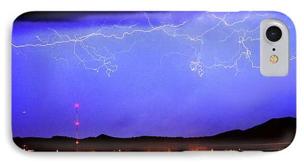 Lightning Over Loveland Colorado Foothills Panorama Phone Case by James BO  Insogna