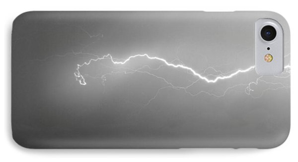 Lightning Over North Boulder Colorado  Ibm Bw Phone Case by James BO  Insogna