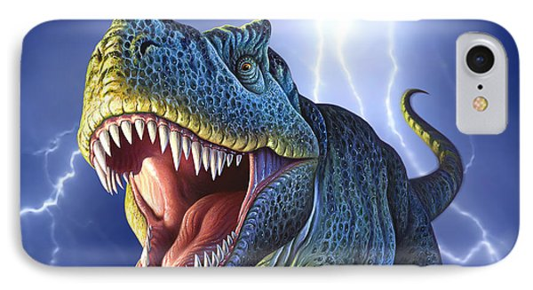 Dinosaur iPhone 7 Case - Lightning Rex by Jerry LoFaro