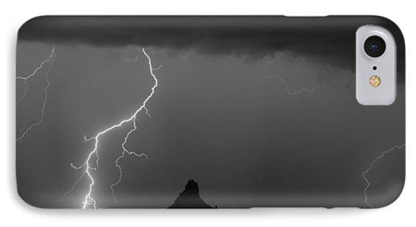 Lightning Storm At Pinnacle Peak Scottsdale Az Bw Phone Case by James BO  Insogna