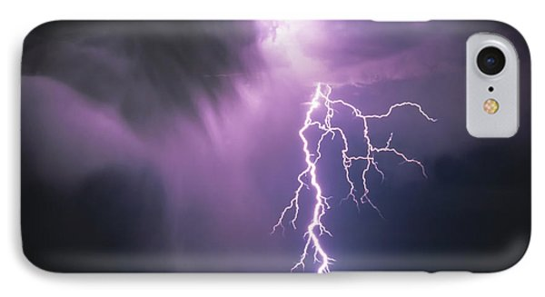 Lightning Storm Phone Case by Leland D Howard