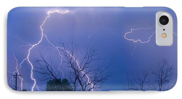 Lightning Storm On 17th Street Fine Art Print Phone Case by James BO  Insogna
