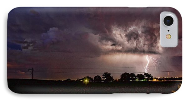 Lightning Stormy Weather Of Sunflowers Phone Case by James BO  Insogna