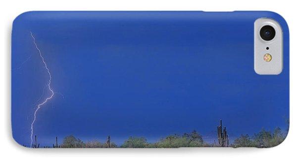 Lightning Strike In The Desert Phone Case by James BO  Insogna