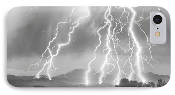 Lightning Striking Longs Peak Foothills 4cbw IPhone 7 Case
