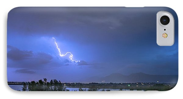 IPhone Case featuring the photograph Lightning Striking Over Boulder Reservoir by James BO Insogna