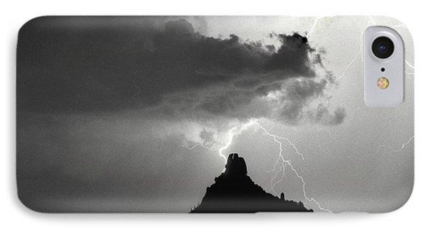 Lightning Striking Pinnacle Peak Arizona Phone Case by James BO  Insogna