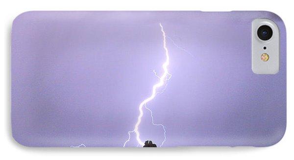 Lightning Striking Pinnacle Peak Scottsdale Az Phone Case by James BO  Insogna