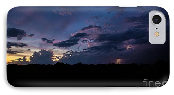 IPhone Case featuring the photograph Lightning Sunset by Brian Jones