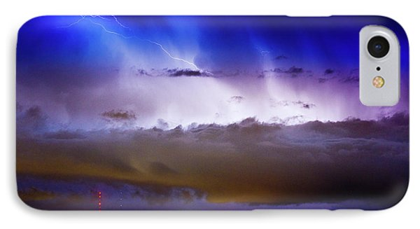 Lightning Thunder Head Cloud Burst Boulder County Colorado Im39 Phone Case by James BO  Insogna