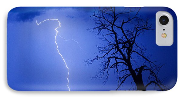 Lightning Tree Silhouette Phone Case by James BO  Insogna
