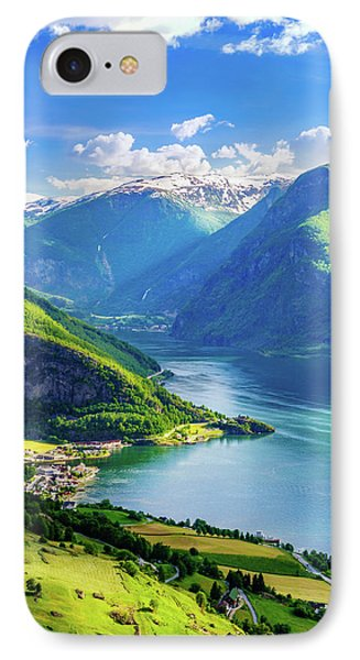 IPhone Case featuring the photograph Lights And Shadows Of Sognefjord by Dmytro Korol