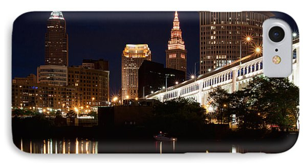 Lights In Cleveland Ohio IPhone Case by Dale Kincaid