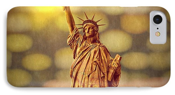 Lights Of Liberty IPhone Case by Tom Downing