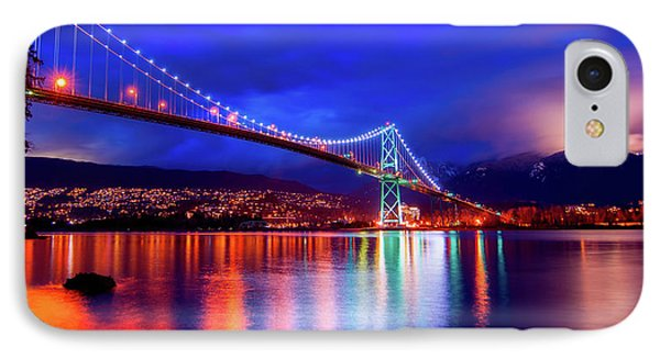 Lights Of The Bridge IPhone Case by James Wheeler