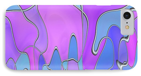 IPhone Case featuring the digital art Lignes En Folie - 03a by Variance Collections