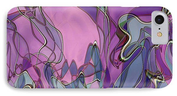 IPhone Case featuring the digital art Lignes En Folie - 13a by Variance Collections