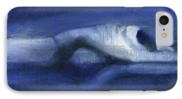 IPhone Case featuring the painting Like A Dolphin by Jarmo Korhonen aka Jarko