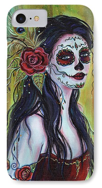 Lila Day Of The Dead Art IPhone Case