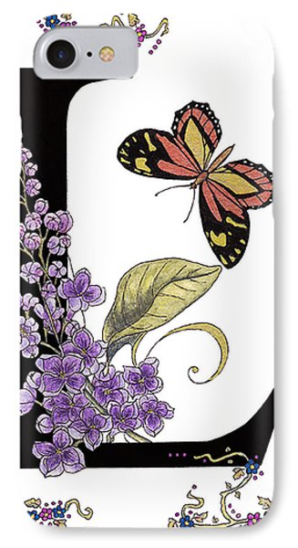 Lilac And Large Tiger Butterfly IPhone Case by Stanza Widen